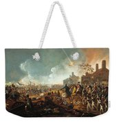 The Duke Of Wellington At La Haye Sainte. The Battle Of Waterloo Weekender Tote Bag