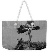 The Eagle And The Indian In Black And White Weekender Tote Bag
