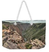 The Edge Of Back Canyon Weekender Tote Bag