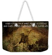 The Elephant - Inner Strength Weekender Tote Bag