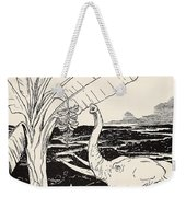 The Elephant's Child Going To Pull Bananas Off A Banana-tree Weekender Tote Bag