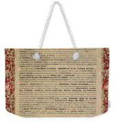 The Emancipation Proclamation Weekender Tote Bag by American School