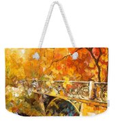 The Embassay Of Autumn - Palette Knife Oil Painting On Canvas By Leonid Afremov Weekender Tote Bag