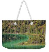 The Emerald Green Waters Of Emerald Weekender Tote Bag