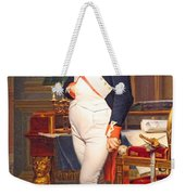 The Emperor Napoleon In His Study At The Tuileries By Jacques Louis David Weekender Tote Bag