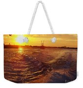 The End To A Fishing Day Weekender Tote Bag