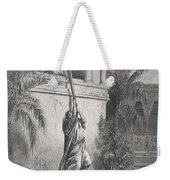 The Escape Of David Through The Window Weekender Tote Bag by Gustave Dore