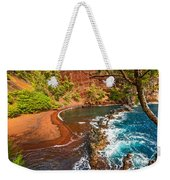 The Exotic And Stunning Red Sand Beach On Maui Weekender Tote Bag