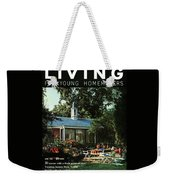 The Exterior Of A House And Patio Furniture Weekender Tote Bag by Nowell Ward