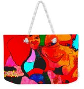 The Eyes Upon Us Painted Weekender Tote Bag