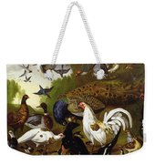 The Fable Of The Raven With A Peacock, Cockerel, Woodpecker, Jay, Woodcock, And Magpie Weekender Tote Bag