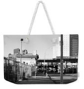 The Face In Black And White Weekender Tote Bag