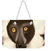The Face Of A Lemur Weekender Tote Bag