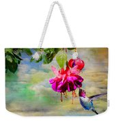 The Face Of Fuchsia Weekender Tote Bag