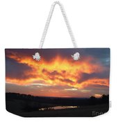 The Sunrise Face In The Clouds Weekender Tote Bag