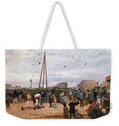The Fairgrounds At Porte De Clignancourt Paris Weekender Tote Bag