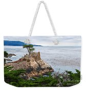 The Famous Lone Cypress Tree At Pebble Beach In Monterey California Weekender Tote Bag