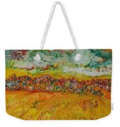 The Farmland Oil On Canvas Weekender Tote Bag