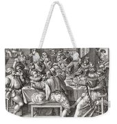 The Feast, After A 17th Century Engraving By N. De Bruyn.  From Illustrierte Sittengeschichte Vom Weekender Tote Bag