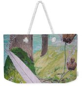 The Feather And The Word La Pluma Y La Palabra Weekender Tote Bag