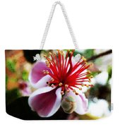 the Feijoa Blossom Weekender Tote Bag