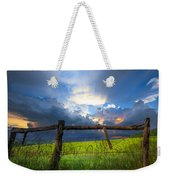 The Fence At Cades Cove Weekender Tote Bag