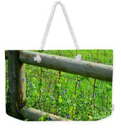 The Fence At The Meadow Weekender Tote Bag