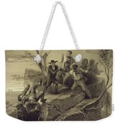 The Fight Between George And Tom Loker Weekender Tote Bag