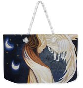The Final Eclipse Before The Millenium Hand Embroidery  Weekender Tote Bag