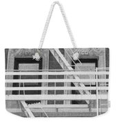 The Fire Escape In Black And White Weekender Tote Bag