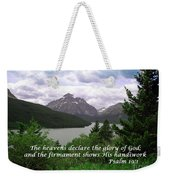 The Firmament  Psalm 19 1  Weekender Tote Bag