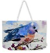 The First Bluebird Weekender Tote Bag