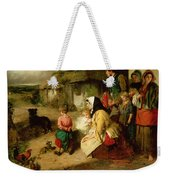 The First Break In The Family Weekender Tote Bag by Thomas Faed