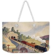 The First Paris To Rouen Railway, Copy Weekender Tote Bag by French School