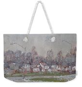 The First Snowflakes Of The Season  Weekender Tote Bag