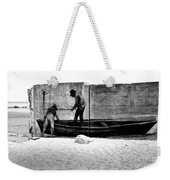 The Fishermen And The Sea... Weekender Tote Bag
