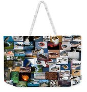 The Fishing Hole Collage Rectangle Weekender Tote Bag