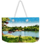 The Fishing Hole Weekender Tote Bag