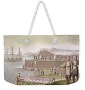The Fishing Industry In Newfoundland Weekender Tote Bag by G Bramati