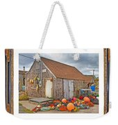 The Fishing Village Scene Weekender Tote Bag