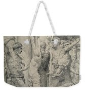 The Flagellation Of Christ Weekender Tote Bag by William Adolphe Bouguereau