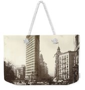 The Flatiron Building In Ny Weekender Tote Bag