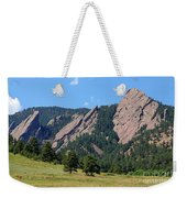 The Flatirons Weekender Tote Bag by Bob Hislop