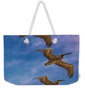 The Flight Of The Pelican Weekender Tote Bag