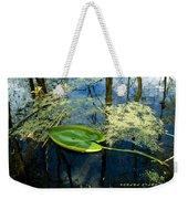 The Floating Leaf Of A Water Lily Weekender Tote Bag