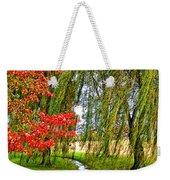 The Flow Of Autumn Weekender Tote Bag