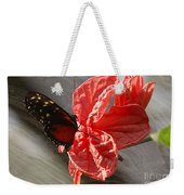 The Flower And The Butterfly Weekender Tote Bag
