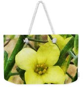 The Flower Of The Broccoli  Weekender Tote Bag