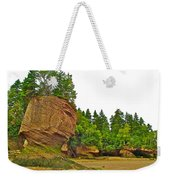 The Flowerpots At Hopewell Rocks On Bay Of Fundy-new Brunswick Weekender Tote Bag