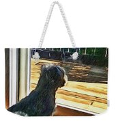 The Fluffy Watcher Weekender Tote Bag